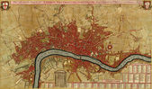 Antique map of London, Southwark asnd Westminster, — Foto de Stock