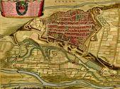 Antiguo mapa de italia cuneum, — Stockfoto