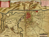 Antique map of Turin, Italy — Stock Photo