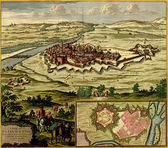 Antique map of Plan of the fortified city of Casale Monferrato , — Photo