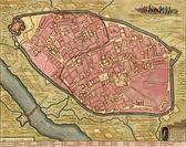 Antique map of Cremona, Italy. — Stock Photo