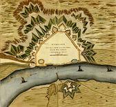 Antika karta över neymegen - nijmegen. — Stockfoto