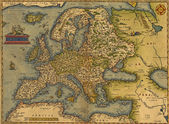 Antique Map of Europe — Photo