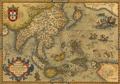 Antique Map of China and Southeast Asia — Photo