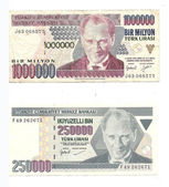 Millions in lira notes from Turkey — Stock Photo
