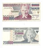 Millions in lira notes from Turkey — Stock Photo