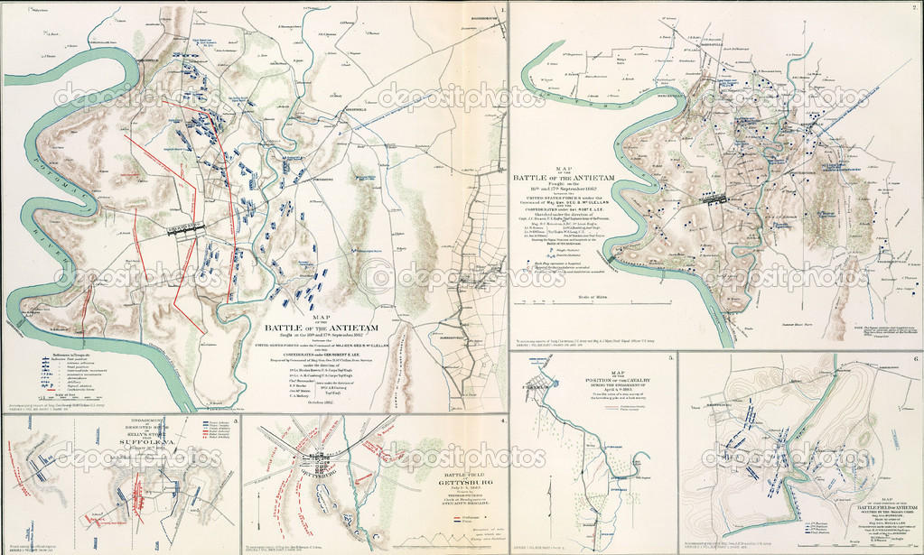 Battle of Antietam Map Maps of The Battlefield of Antietam 1862 From Atlas to Accompany The