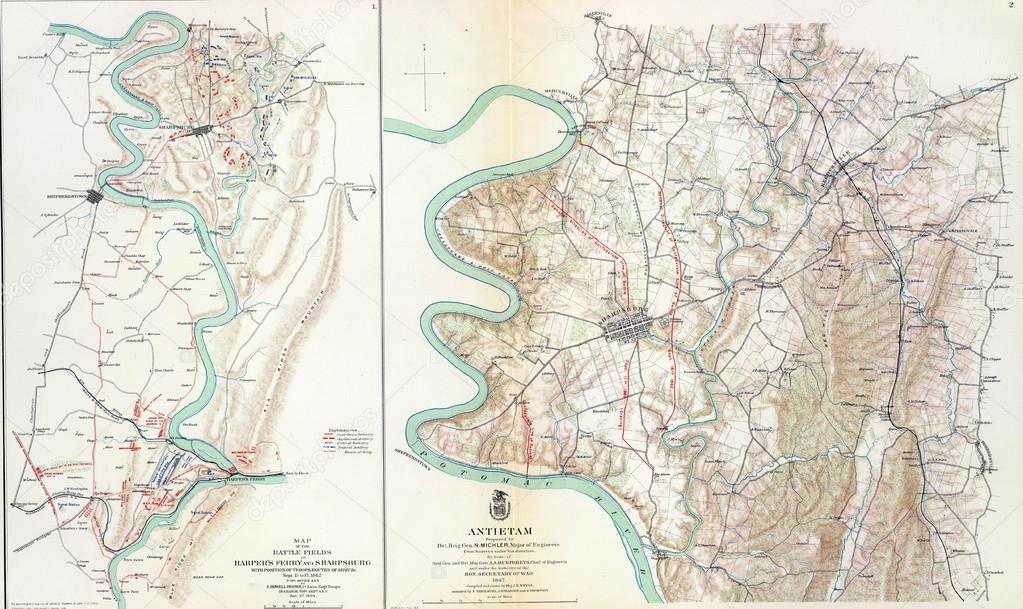 Battle of Antietam Map Map of Battle of Antietam From