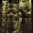 Totem poles of the Pacific Northwest first peoples, — Stock Photo #12761377