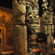 Stock Photo: Totem poles of Pacific Northwest first peoples,