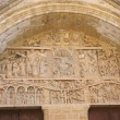 Stock Photo: Tympanum carvings of Last Judgment