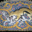 Stock Photo: Leopard hunt on mosaic arch,
