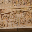 Last Judgment carving - tortures and punishments of Hell, — Stock Photo