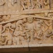 Stock Photo: Last Judgment carving - tortures and punishments of Hell,