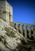 Entrance tower & moat of Citadel, — Stock Photo