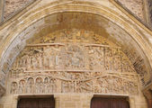 Tympanum carvings of the Last Judgment — Stock Photo