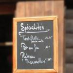 Постер, плакат: Savoyard specialties on the menu