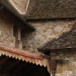 Intersecting rooflines of the cloister — Stock Photo
