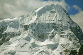 Steep snow faces on Andes mountain — Stock Photo