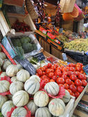 Melons and tomatoes — Stock Photo