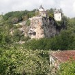 Castle on a limestone bluff — Stock Photo