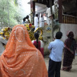 Photo: Hindu gather outside Parvati Temple