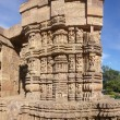 Stock Photo: Detail, exterior sculptures of Hindu temple at Konark