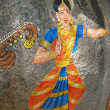 Stock Photo: Stone painting of Nautch dancing girl