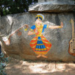 Stone painting of Nautch dancing girl — Stock Photo