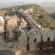 Fortified walls of  Kumbhalgarh Fort - Stock Photo