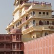 Pink walled inner buildings of  City Palace of  Jaipur — Stock Photo