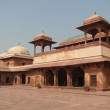 Harem palace of red sandstone — Stock Photo