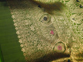 Beautiful silk brocade fabric — Stock Photo