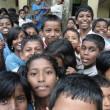 Curious Indian school children — Stock Photo #13319901