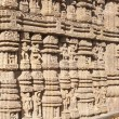 Detail, exterior sculptures of Hindu temple at Konark — Stock Photo