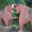 Terra cotta bulls — Stock Photo