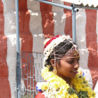 Bride visits the Shiva Murga temple on her wedding day — Stock Photo