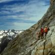 Stock Photo: Climbers traversing Mt Formidable