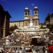 On the Spanish Steps - Stok fotoğraf