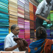Indian women choose from hundreds of color - Stok fotoğraf