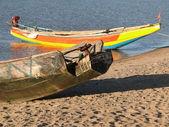 Colorful fishing boats — Stock Photo