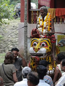 Hindu shaman priests fortell the future — Stock Photo