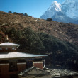 Thyangboche monastery and peak of Ama Dablam — Stock Photo