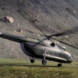 Soviet helicopter taking off — Stock Photo