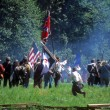 Stock Photo: Confederates volley fire on advancing Union soldiers,