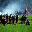 Confederates volley fire - Stock Photo