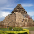 Ancient Hindu temple at Konark - Stock Photo