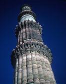 Detail, schnitzereien an minarett — Stockfoto