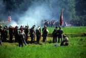 Confederates volley fire — Foto de Stock