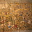 Tapestry, battle againts the Turks — Stock Photo